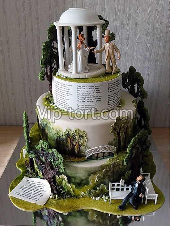 Свадебный торт оригинальный фото