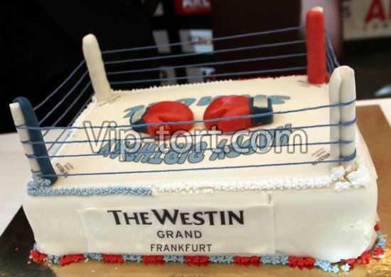 торт боксерский ринг фото