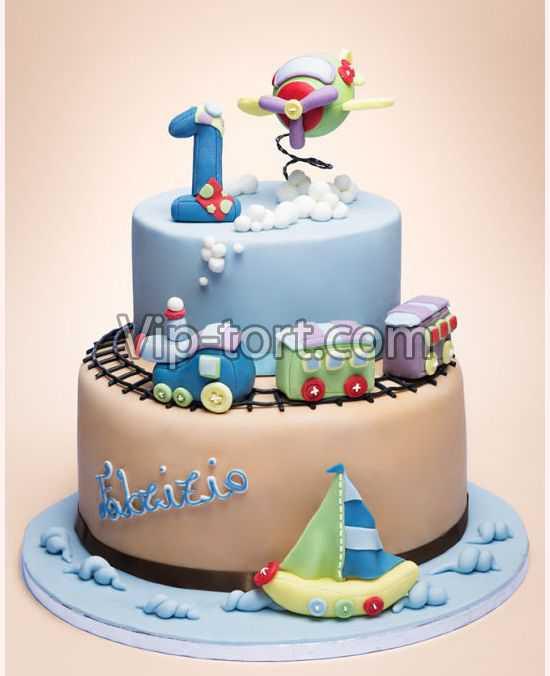 торт для мальчика 1 год фото