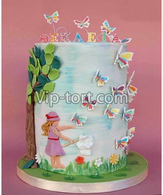 торты с бабочками фото