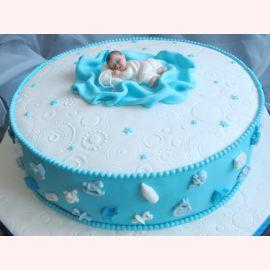 торт для крещения мальчика фото