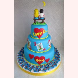 "Торт ""Love is...wedding"""