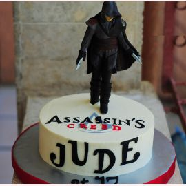 Торт Assassin's Creed Black