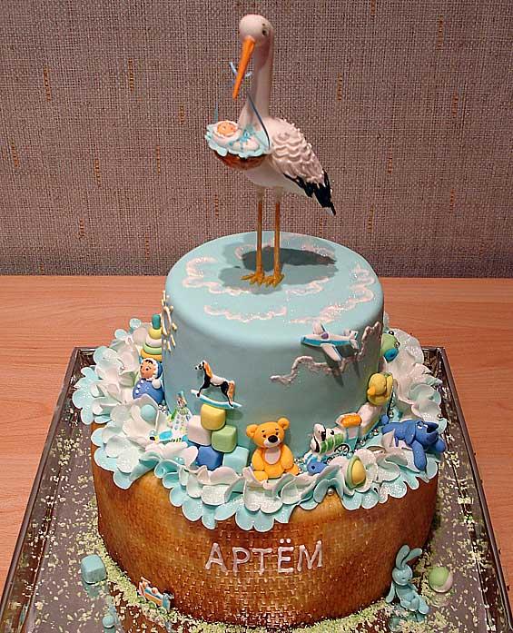 Детский торт долгожданный аист