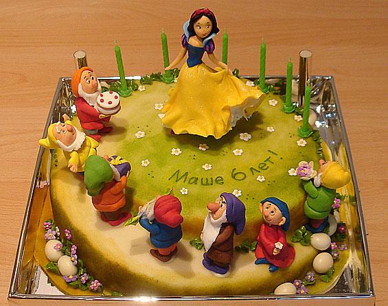 Детский торт белоснежка и 7 гномов вы