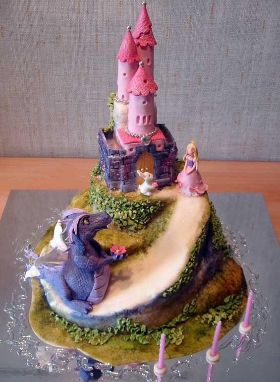 Детский торт принцесса и дракоша вы