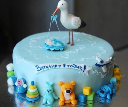 Фото тортов на 1 год ребенку