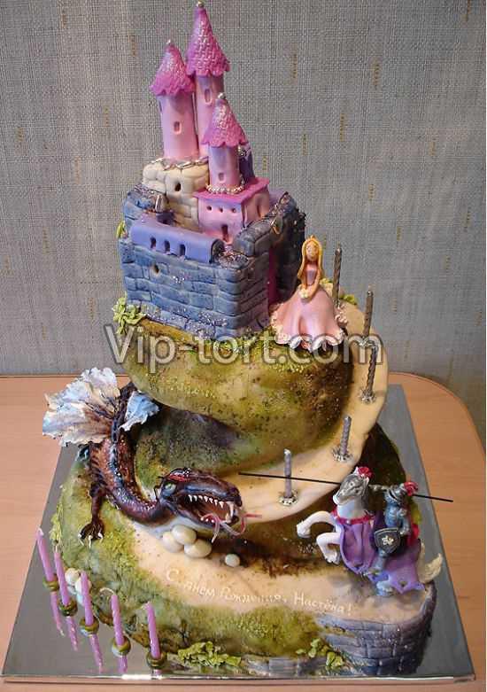 Фото торт для девочки 7 лет картинки