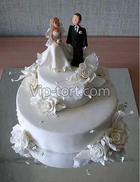 Этот свадебный торт беленький вы