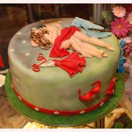 """Эротический торт """"Влюбленные"""""""