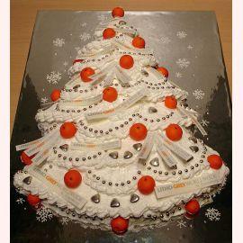 """Торт на Новый год """"Елка в апельсинах"""""""
