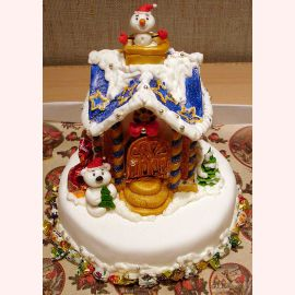 """Новогодний торт """"Теремок"""""""