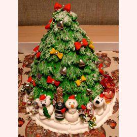 """Торт на Новый год """"Елочка с подарками"""""""