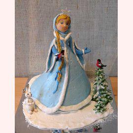 "Новогодний торт ""Снегурочка"""