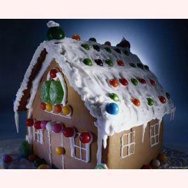 """Торт на Новый год """"Новогодний домик"""""""