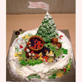"""Торт на Новый год """"Грибная полянка"""""""
