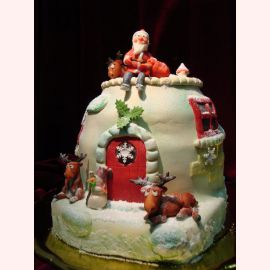 """Новогодний торт """"Санта"""""""