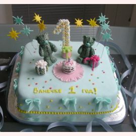 Тортик с мишками на 1 годик
