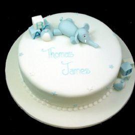 """Торт на 1 год """"Слоненок"""""""