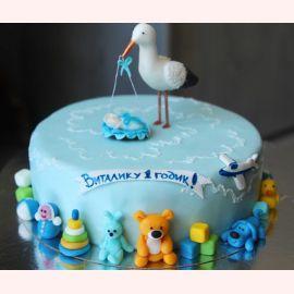 """Торт на 1 год """"Аист"""""""