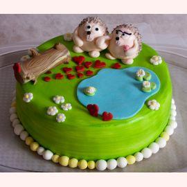 """Торт для влюбленных """"Влюбленные ёжики"""""""