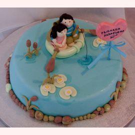 """Торт для влюбленных """"Лодка влюбленных"""""""