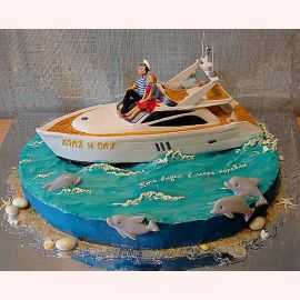 "Торт для влюбленных ""Яхта любви"""