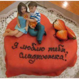 """Торт для влюбленных """"Мы вместе"""""""