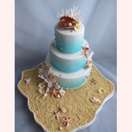 Торт на Жемчужную свадьбу