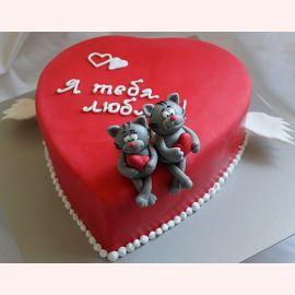 """Торт для влюбленных """"Коты любви"""""""