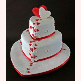 """Торт для влюбленных """"Сердца любимых"""""""