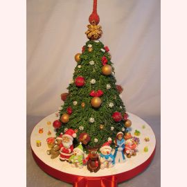"Новогодний торт ""Хоровод под ёлочкой"""