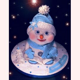 """Новогодний торт """"Снеговичок для мальчика"""""""