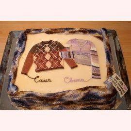 Торт на Кашемировую свадьбу