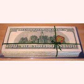 "Торт ""Деньги - 100 USD"""