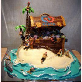 """Торт """"Новый год в пиратском стиле"""""""