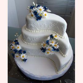 "Торт ""Ромашковая свадьба"""