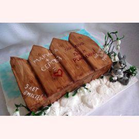 Торт на деревянную свадьбу (весна)