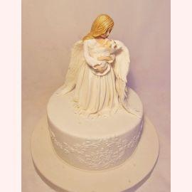 """Торт на Крещение """"Ангел-Хранитель"""""""