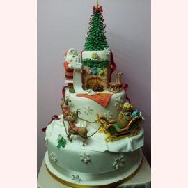"""Торт на Новый год """"Список Санты"""""""