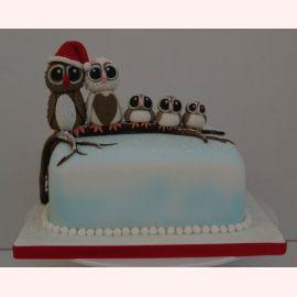 """Торт на Новый год """"Новый Год по-совиному"""""""