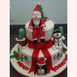 """Торт на Новый год """"Рождественский Санта"""""""