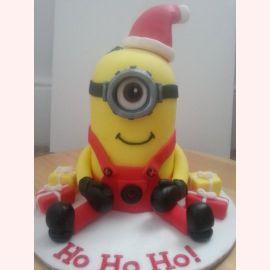 """Торт на Новый год """"Миньон Санта"""""""