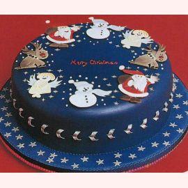 """Торт на Новый год """"Рождественские символы"""""""