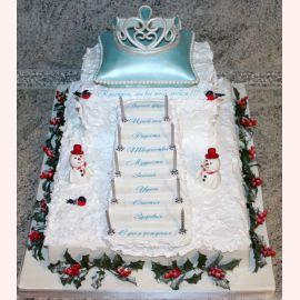"""Торт на Новый год """"Королевский Новый год"""""""