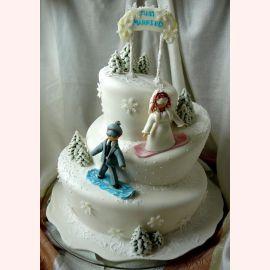 """Торт на Новый год """"Сноубордисты"""""""