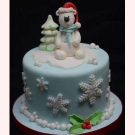 """Торт на Новый год """"Медвежонок"""""""