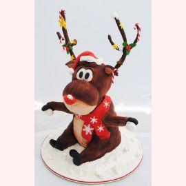 """Торт на Новый год """"Олень Санта-Клауса"""""""
