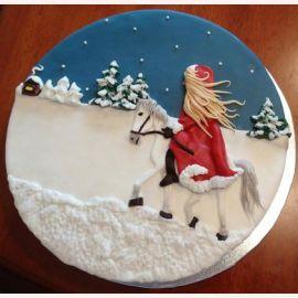 """Торт на Новый год """"Снежная королева"""""""