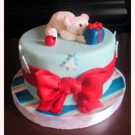 """Торт на Новый год """"Подарок для Мишки"""""""